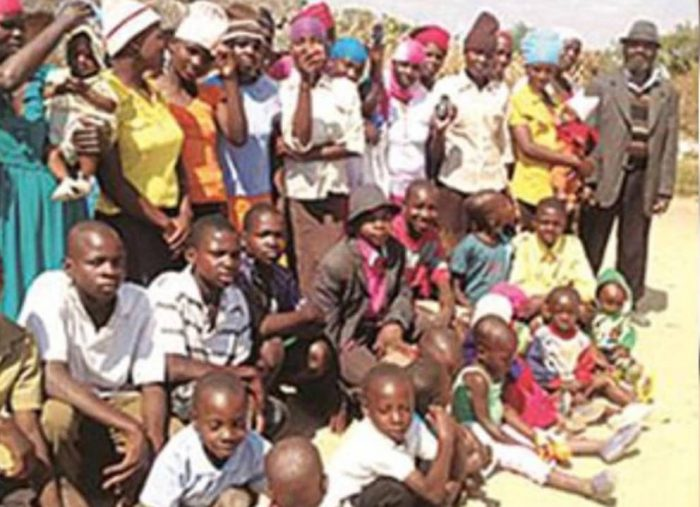 Misheck Nyandoro with is kids and wife